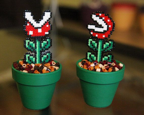 Super Mario Inspired Tiny Potted Piranha Plant Two by BeadxBead, €8.50