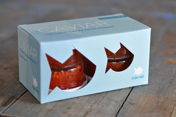 Packaging for Fish Me Caviar. Design: Hege Jørgensen.