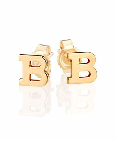 Large Solid 14k Gold Initial Stud Earrings Initial Earrings Studs Initial Earrings Gold Bar Earrings