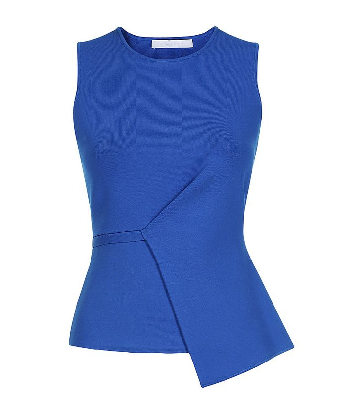 Alexander Wang Asymmetric Milano Peplum Top in Blue <3