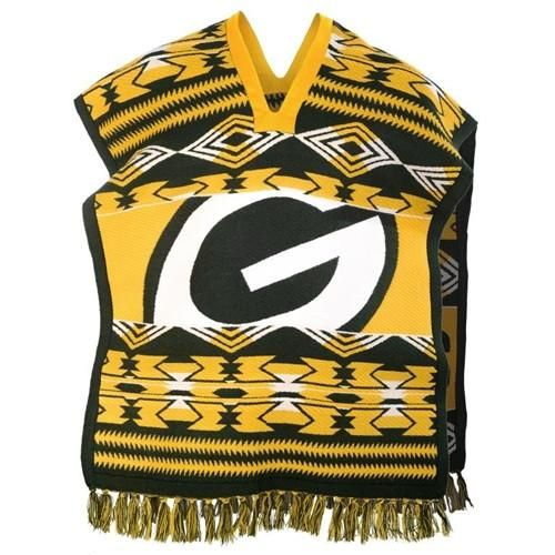 Green Bay Packers NFL Football Team Logo Unisex Poncho. Stay Dry with these tailgate pullover jacket water proof Ponchos. Officially Licensed.