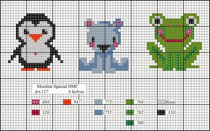 Este año va a ser la mar de productivo, es por eso que os hemos preparado para vosotras estos 3 diagramas de punto de cruz para estar bien a...
