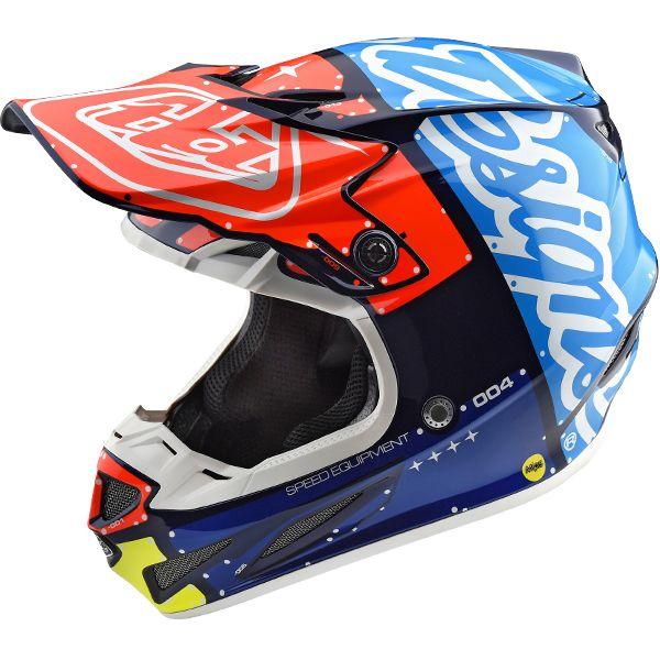 Troy Lee Designs SE4 Polyacrylite Off Road MX Helmet Factory White Large