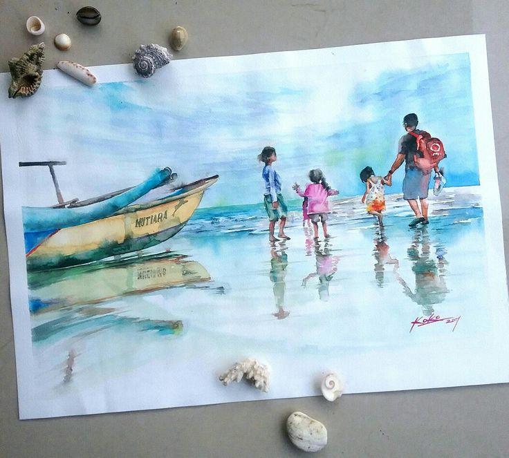 #watercolor #pqinting 2017 @kokoponiman