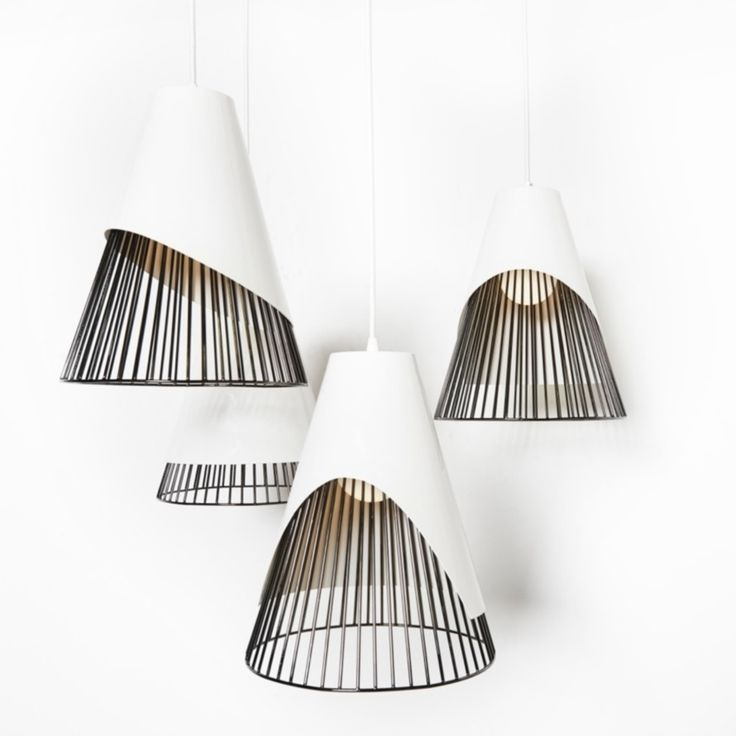 Conic Section Pendant by Castor, Black Chrome Plated Steel, via Matter