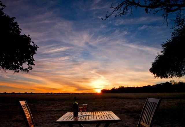 A beautiful dinner as you enjoy the African sunset