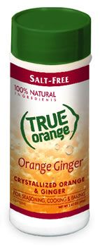Halt the salt! New True Orange Ginger is made from 100% natural ingredients and contains no sugar or salt. Great flavor. Excellent for chefs, people who are on a low-sodium diet or weight loss plan, and those who like to eat healthy!
