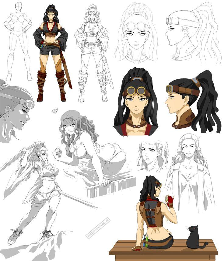 naruto style girl design, Evenlea (commision) by Precia-T ...