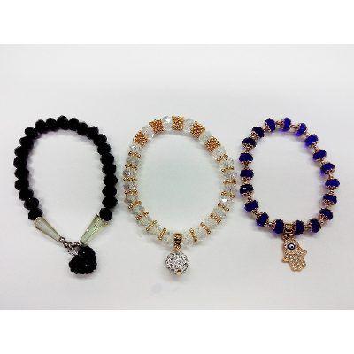 Pulseras Cristal  De Roca Varios Colores Por 10 Unidades ! - $ 400,00