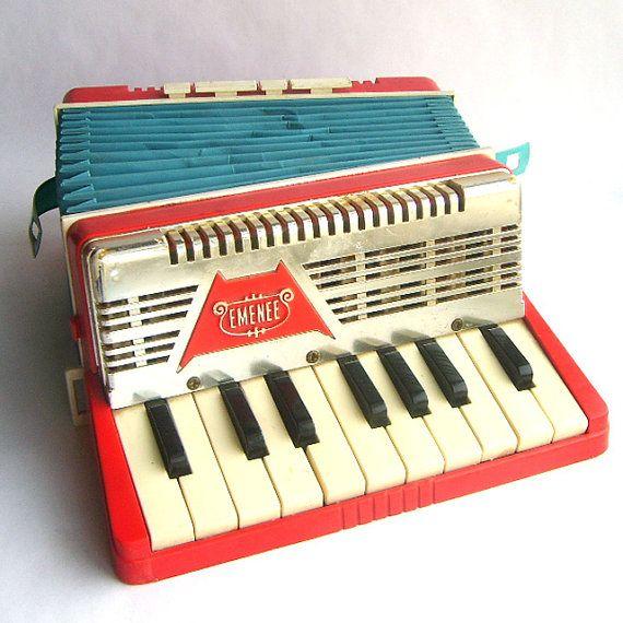 vintage toy accordion.