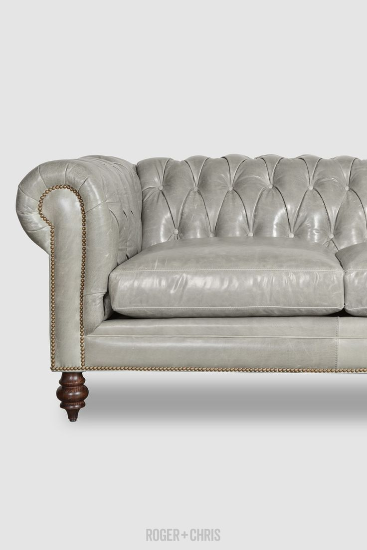 Grey Leather Chesterfield Sofa Bed Brokeasshome Com