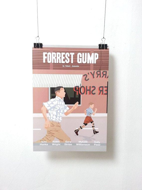 Forrest Gump version 1 Movie Print Poster by MinusculeMotion