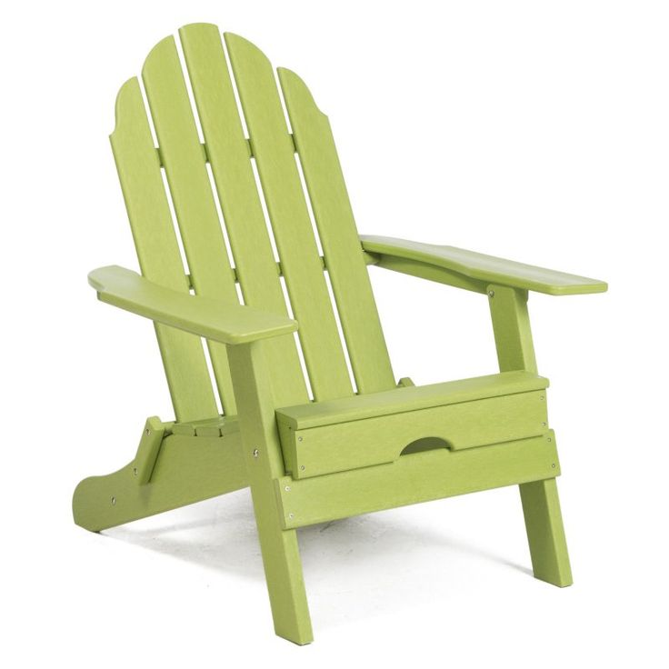 Outdoor Belham Living Belmore Recycled Plastic Folding Adirondack Chair Green Apple - HZXMFC38 APPLE GREEN