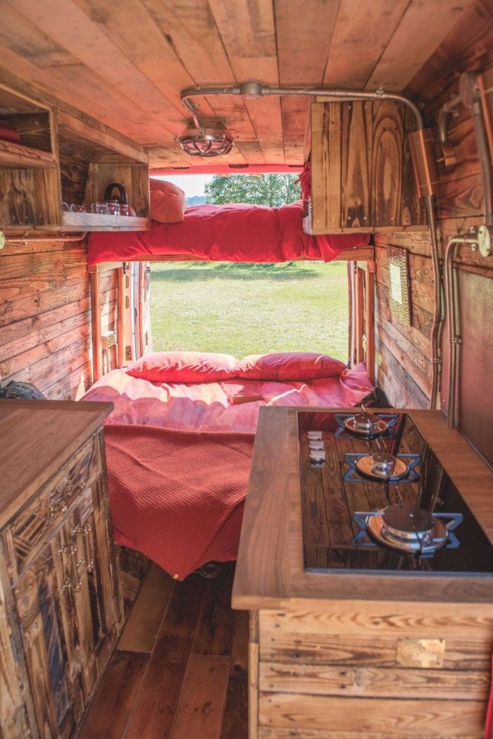 Go Glamping In The Uk With A Unique Handcrafted Campervan Best Campervan Van Home Campervan Interior