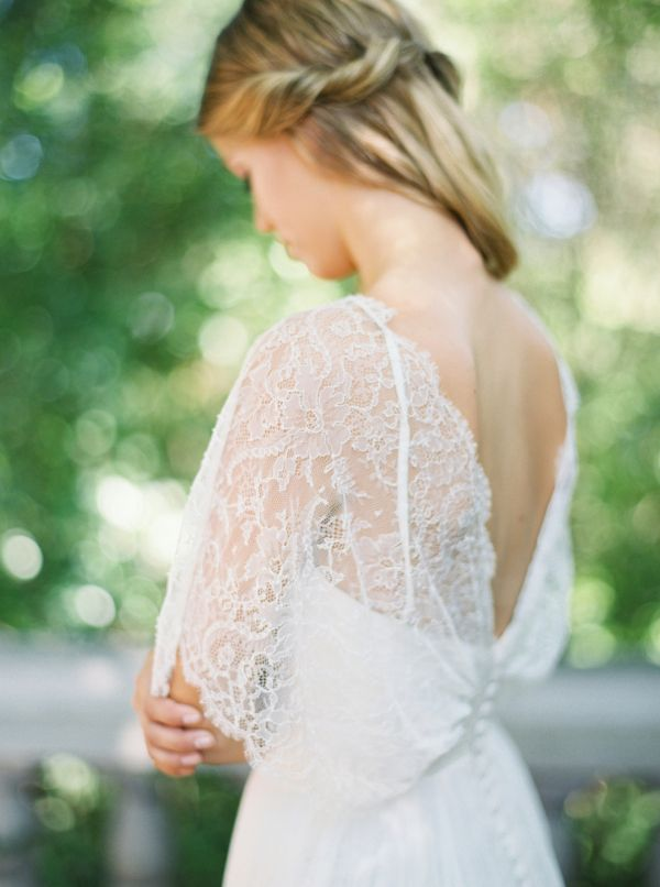 Lace Flutter Sleeve Gown | photography by http://www.michelleboydphotography.com/