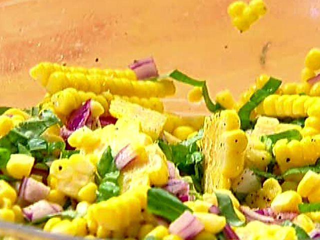 Fresh Corn Salad Recipe : Ina Garten : Food Network