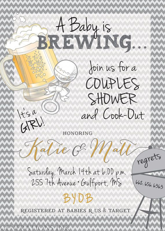 Couples Baby Shower InvitationBaby is Brewing / by GenerationsInk