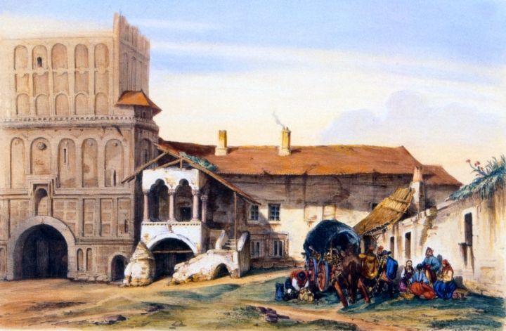 În curtea mănăstirii Câmpulung
