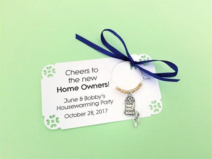 Housewarming Party and New Homeowner Party Favors. Wine Charm favors. Perfect stock the bar party favors. Fully Customized 1 to 50 favors. by Winewifehappylife on Etsy