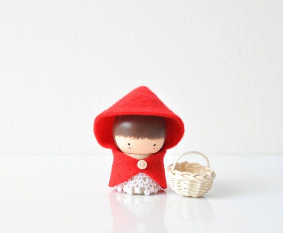 Little Red Riding Hood  Wooden Friend by TheCupcakeGirls on Etsy, $14.00