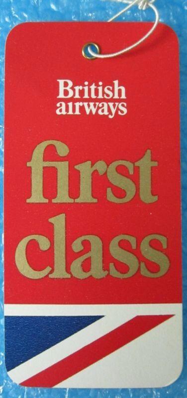 British Airways First Class Tag