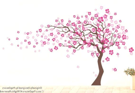 Cherry Blossom Tree Wall Decal 83inch H Nursery Floral Decals Woman39s Decal Child Tree Room Stickers Floral Tree Floral Nursery Tree Wall Decal Floral Decal