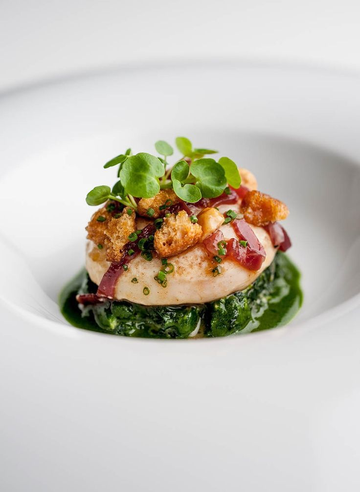 Another stunning dish from Raymond Blanc's restaurant, Le Manoir - Photography by David Griffen