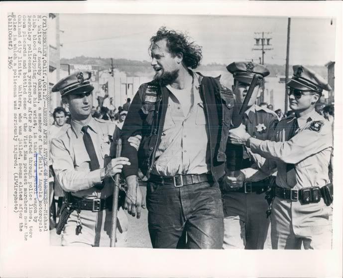Tiny, Oakland, arrest 1965 | hells angels | Hells angels, Motorcycle