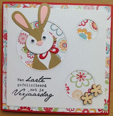 Kaartenblog van Tineke: Kinderkaart met konijntje
