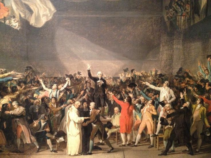 The Tennis Court Oath (1791) by Jacques-Louis David.