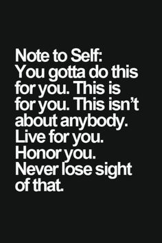 note to self  // Inspirational Quotes Self Help & Motivational