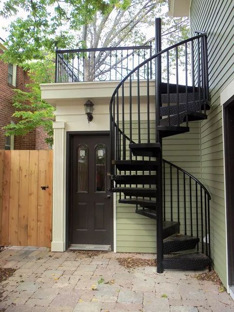 1000 ideas about outside stairs on pinterest external - Exterior metal spiral staircase cost ...