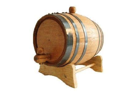 American White Oak Barrels, 2 Liter for Whiskey or Spirits