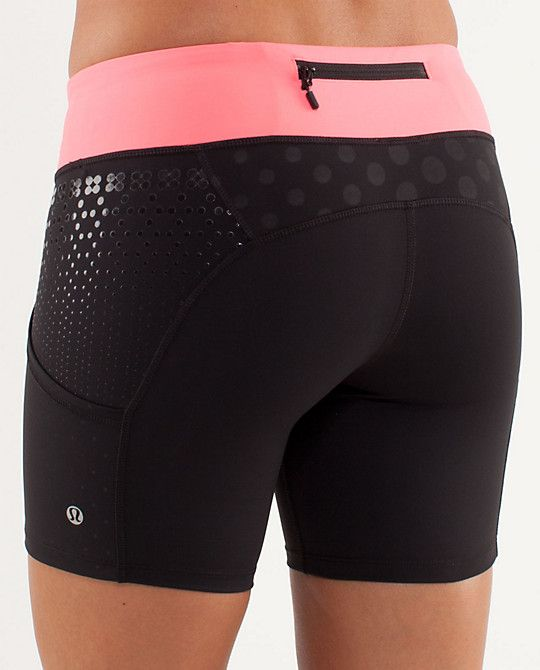 Great shorts that don't ride up and make your butt look GOOD! Thx Lululemon! RUN: Dart and Dash Short
