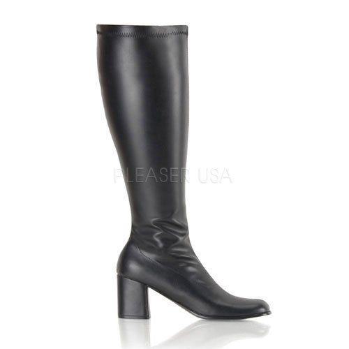 GOGO-300WC, Schlichter Stretch-Stiefel schwarz (weiter Schaft), Größe wählen:38.5 - http://on-line-kaufen.de/pleaser/gogo-300wc-schlichter-stretch-stiefel-schwarz-38