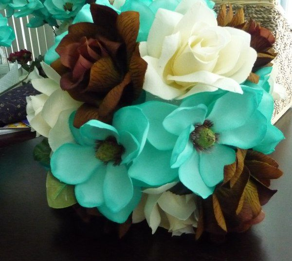 Brown Wedding Flowers: 17 Best Images About Brown And Teal Wedding On Pinterest