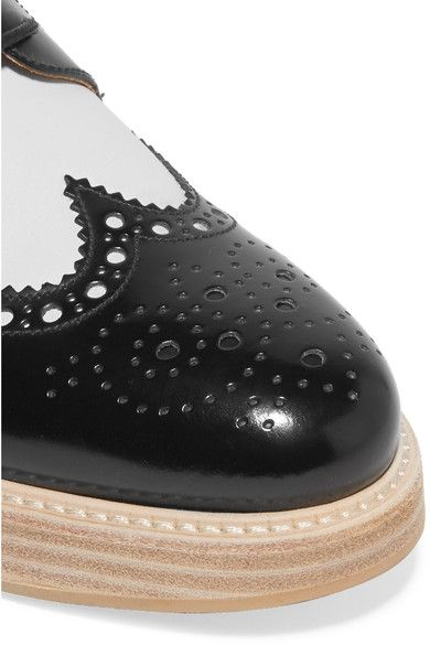 Church's - Opal Two-tone Glossed-leather Brogues - Black - IT