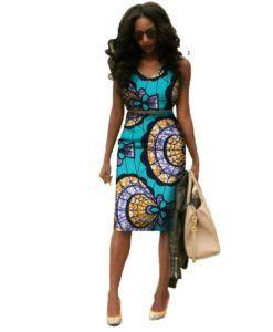 Ankara African Traditional Dress For Women Vestidos Plus Size 6xl African Wax Print Dresses Bazin Riche Africa Midi Dress.