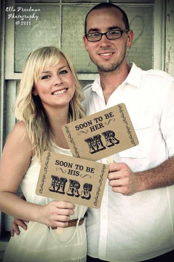 pre-wedding signs