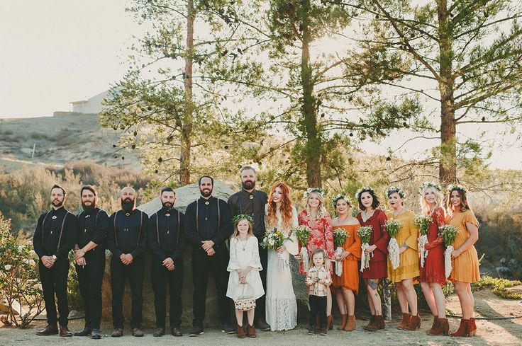 """The year was 2016…or was it? From the moment Sean + Alex sent off their save-the-dates, guests were transported back to that magical year of music, Harleys, and hippies: 1969. The event was dubbed """"Wedstock,"""" a harmonious union of two lovers and their obsessionwith the 70s! The groomsmen wore black biker attire, the ladies brought..."""