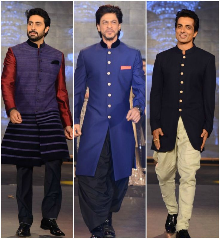 SRK, Abhishek, Sonu walk the ramp for Manish Malhotra-the middle and right