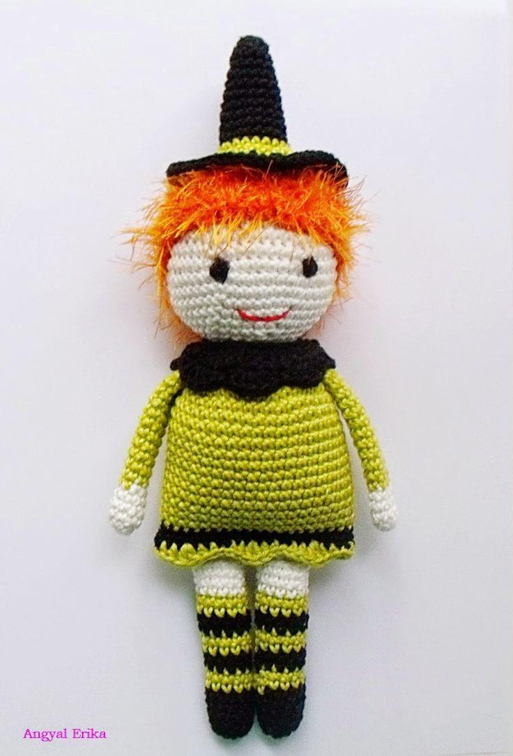 Crochet Halloween Horgolt boszorkány