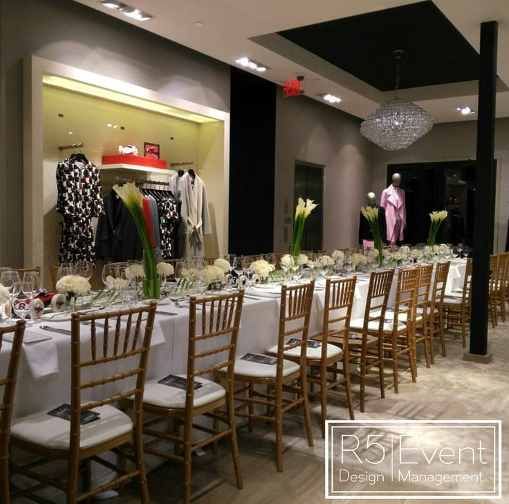 Private event at HUGO BOSS in Toronto- by R5 Event Design