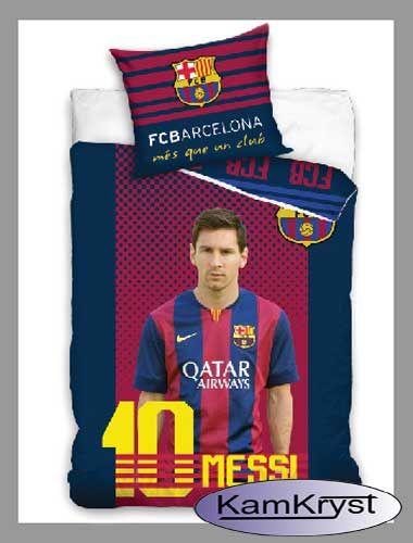 Dla wiernych fanów Leo Messiego z FC Barcelony - nowy wzór pościeli ze 100% bawełny