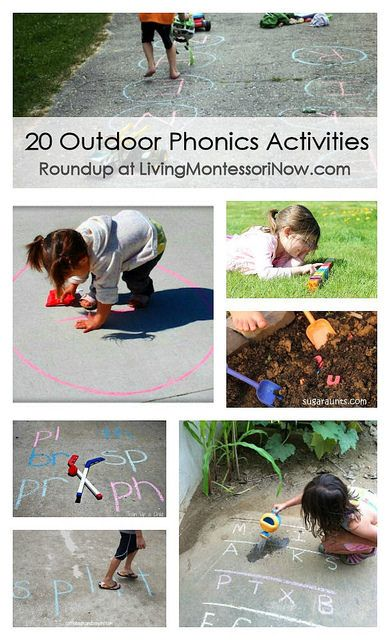 20 Outdoor Phonics Activities #homeschool #preschool