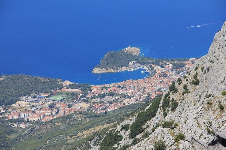 Makarska - Adriatic Panorama of hills Sv Jure in Nature Park Biokovo in Croatia #croatia #chorwacja #biokovo #svjure