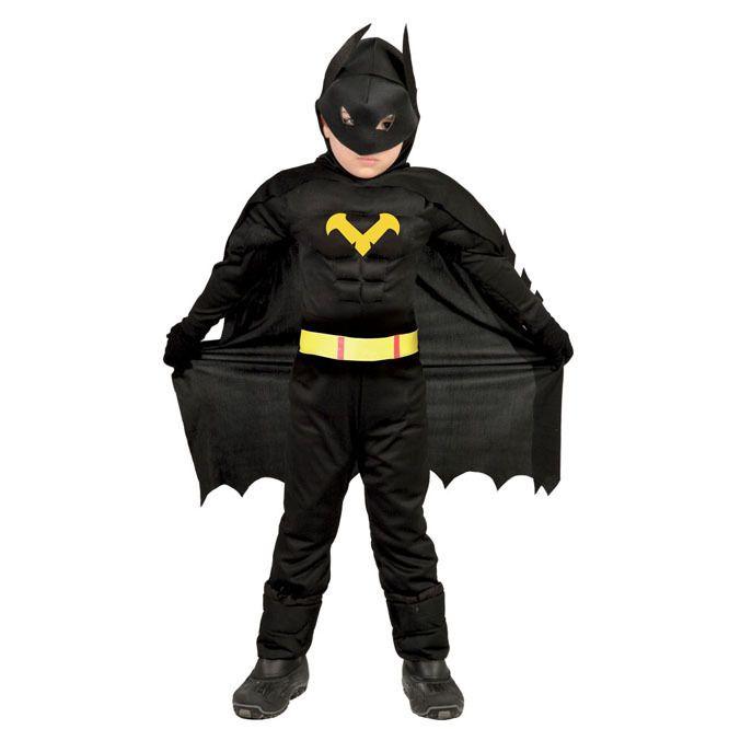 Disfraz de Batman Musculoso para niño