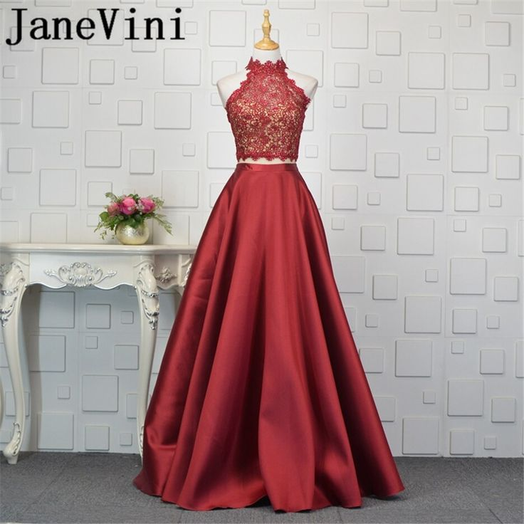 JaneVini Vestidos Burgundy Beaded Two Pieces Dress Mother of the Bride Dresses W…