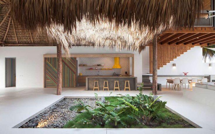 Пляжный домик с соломенной крышей