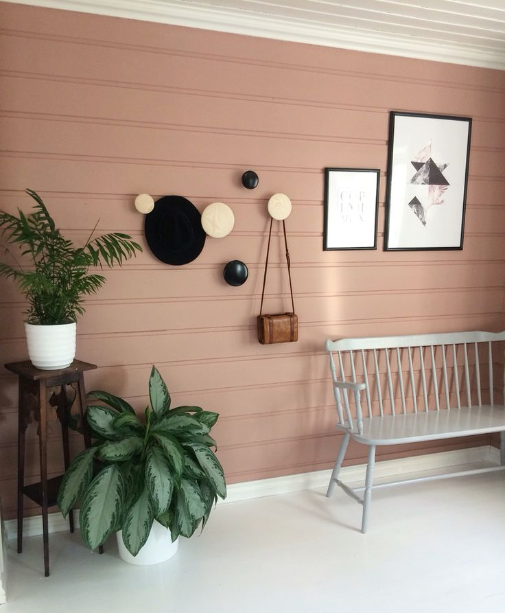Hallway pink scandinavian thedots green living urban jungle interior